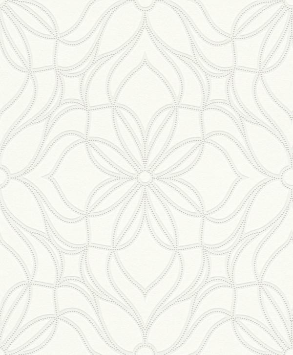 Floral, fundo prata