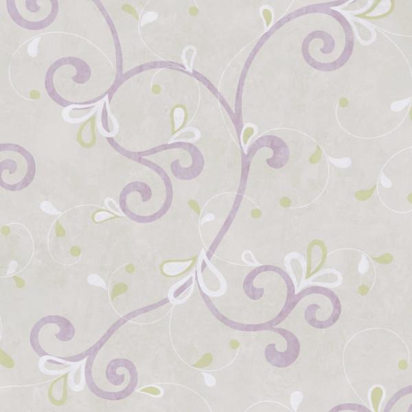 Provençal roxo,   fundo lilás