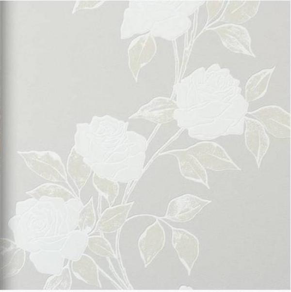 Floral perolado, cinza
