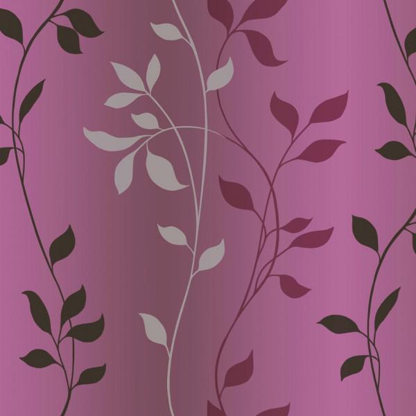 Folhas e ramos branco, pink, preto, fundo rosa