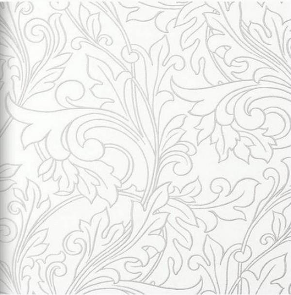 Ramos de folhas prateado, fundo branco