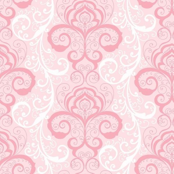 Adamascado pink, branco, fundo rosa