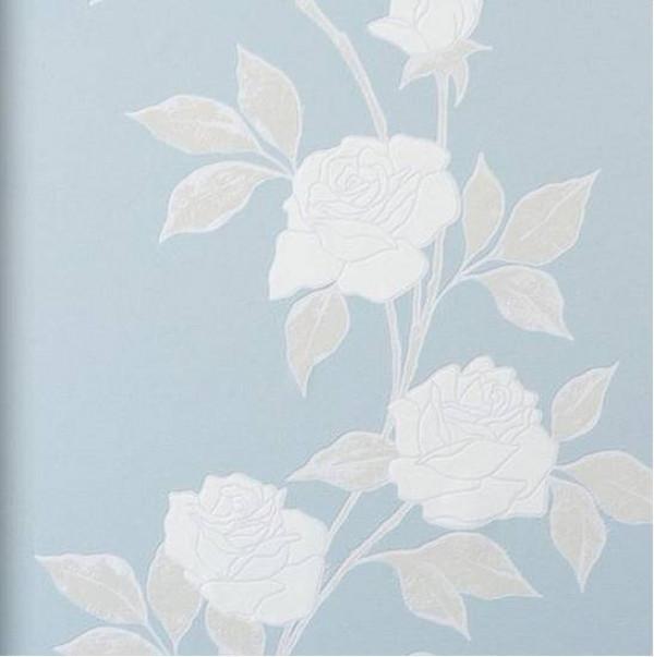 Floral nude cinza azul