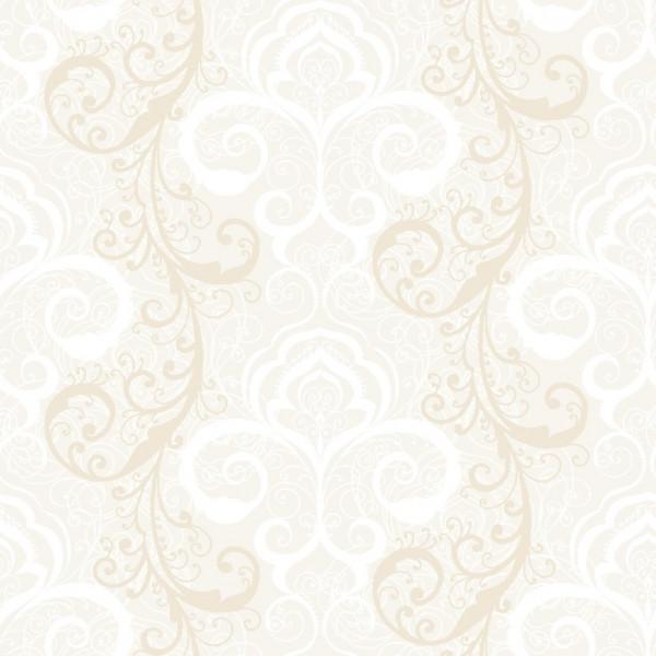 Rose com arabesco bege, branco