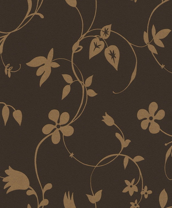 Floral bege, fundo marrom