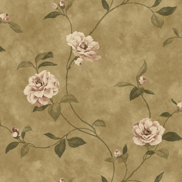 Floral lilas, fundo marrom