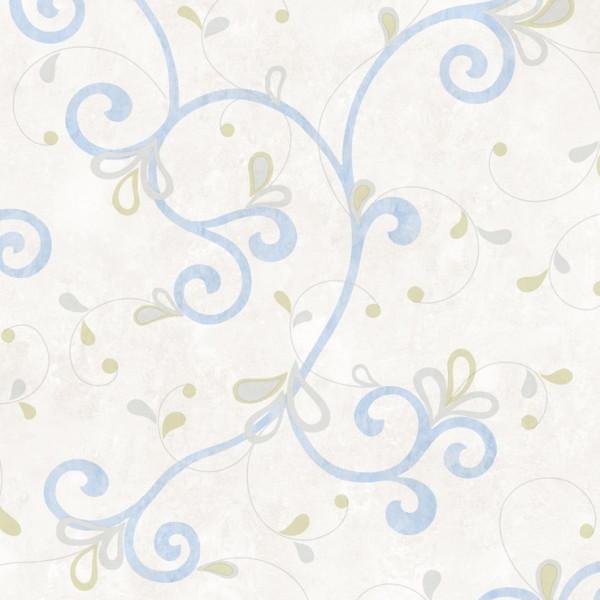 Provençal azul, fundo branco