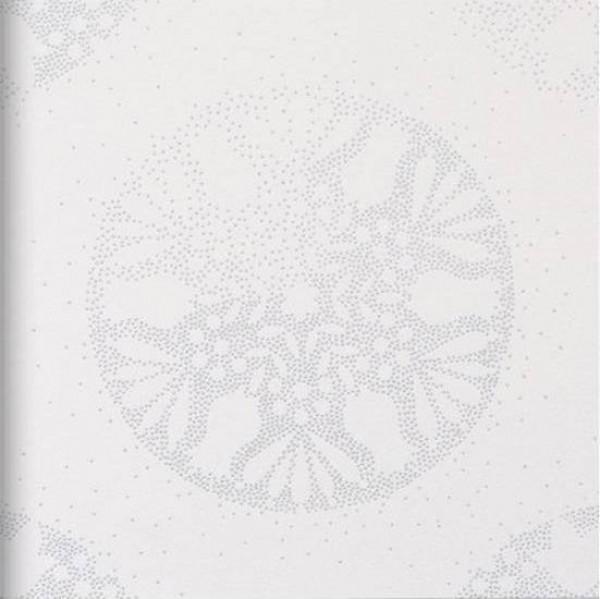 Mandala pontilhada prata