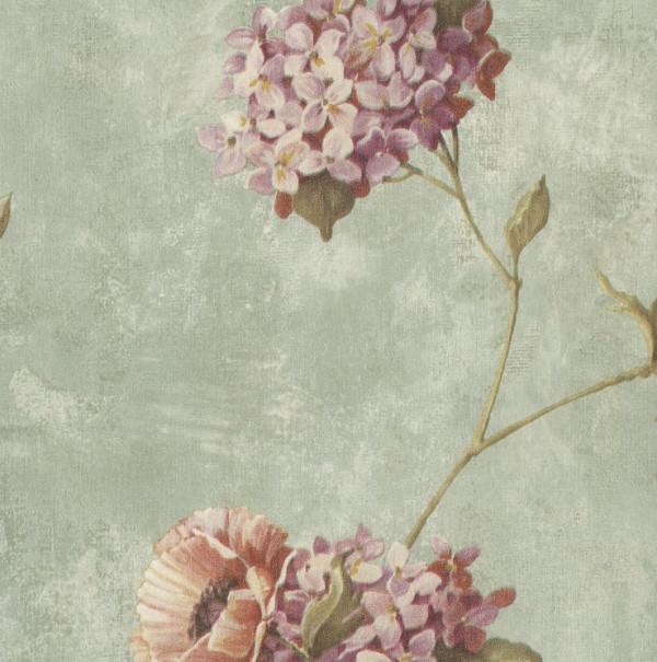 Floral rosa, fundo cinza