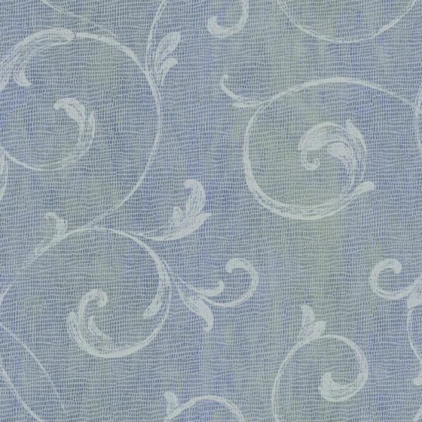 Provençal branco, fundo azul