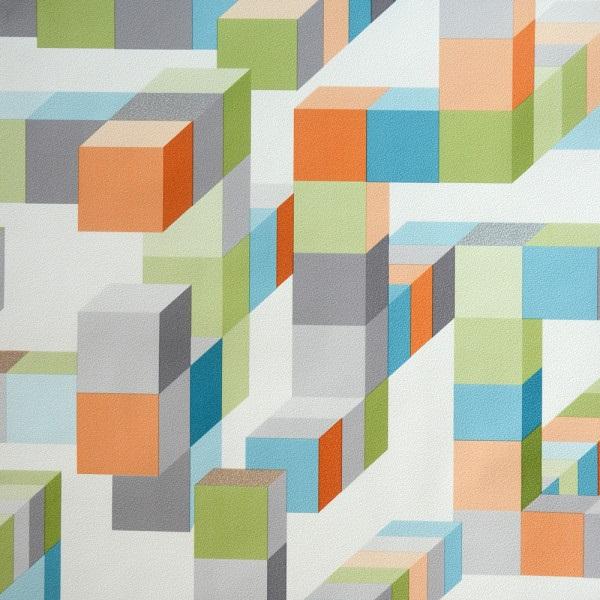 Geométrico quadrados coloridos