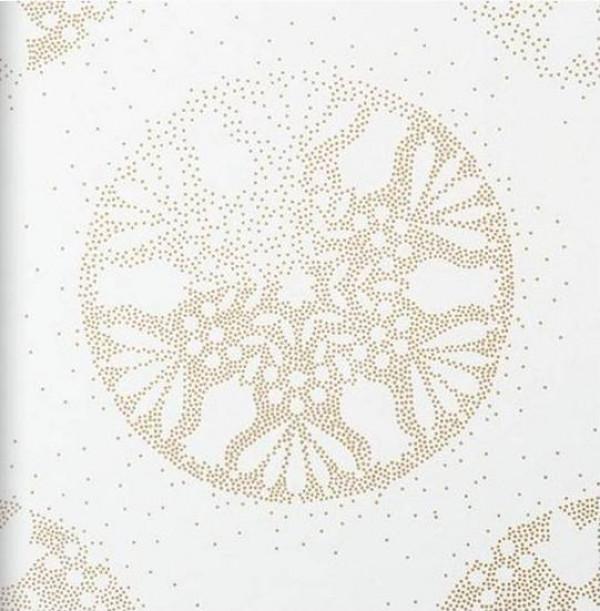 Mandala pontilhada dourada