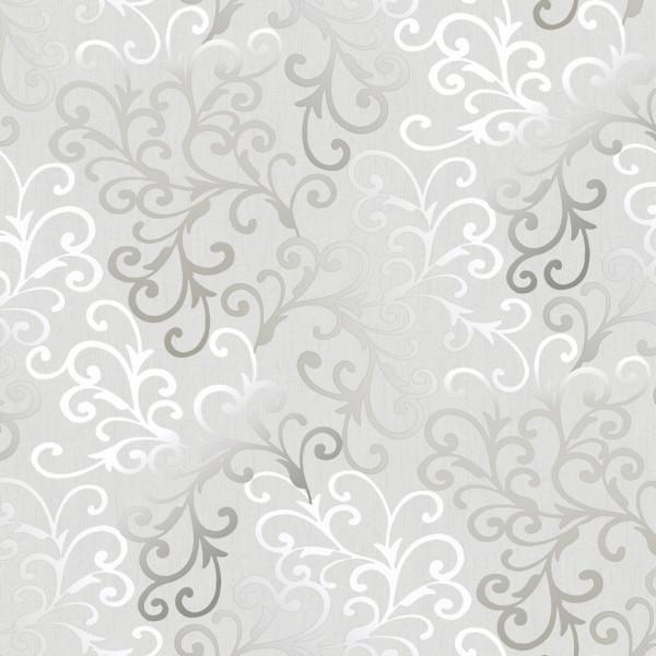 Provençal branco prateado, fundo cinza