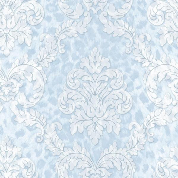 Imitação de pele azul, arabesco branco
