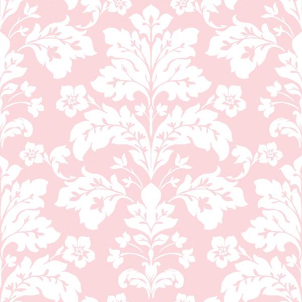 Rosa com arabesco branco