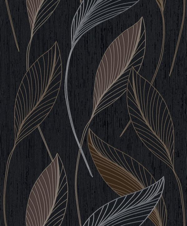 Fundo preto, folhas