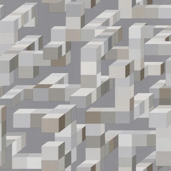 Geométrico  quadrados tons cinza